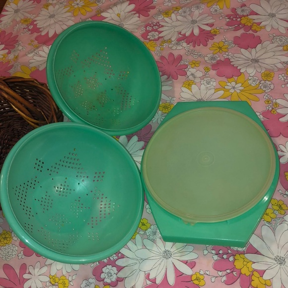 VTG- MCM Tupperware set boho/cottagecore